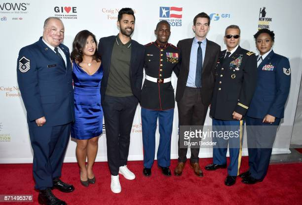 Israel Del Toro Jen Oh Hasan Minhaj Kionte Storey John Mulaney Ivan Castro and Deondra Parks attend the 11th Annual Stand Up for Heroes Event...