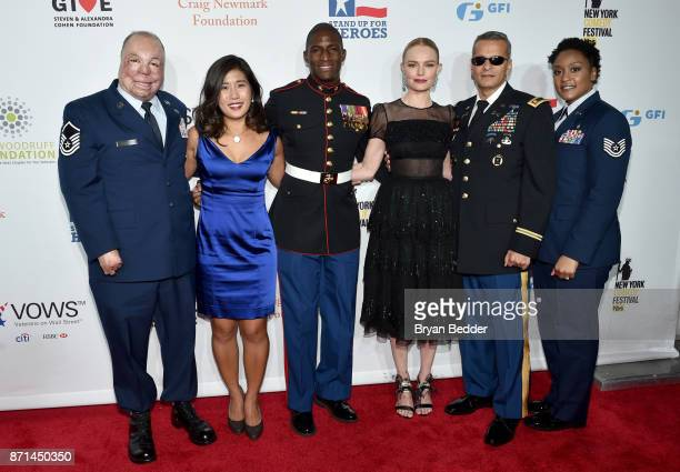 Israel Del Toro Jen Oh Kionte Storey Kate Bosworth Ivan Castro and Deondra Parks attend the 11th Annual Stand Up for Heroes Event presented by The...