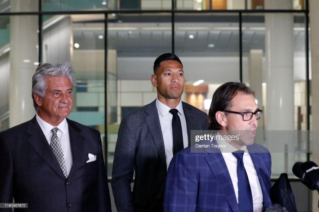Israel Folau Mediation Meeting With Rugby Australia : News Photo
