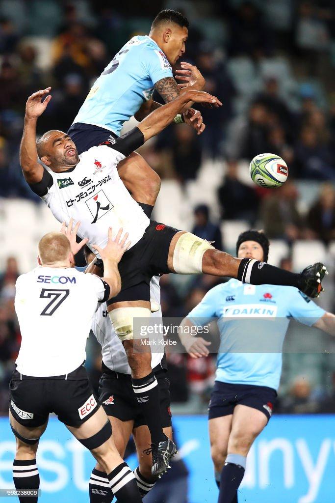 Super Rugby Rd 18 - Waratahs v Sunwolves : News Photo