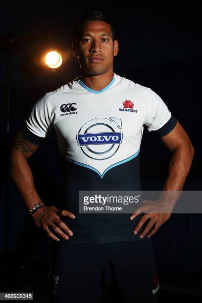 Israel Folau of the Waratahs poses during a NSW Waratahs Super Rugby portrait session at Allianz Stadium on February 5 2014 in Sydney Australia