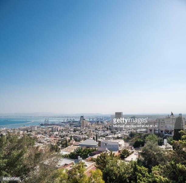 Cityscape of Haifa taken from the Bahá'í gardens