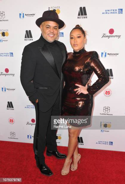 Israel Houghton and Adrienne attend Ebony Magazine's 'Ebony's Power 100 Gala' at The Beverly Hilton Hotel on November 30 2018 in Beverly Hills...