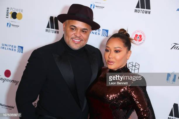 Israel Houghton and Adrienne Houghton attend Ebony Magazine's Ebony's Power 100 Gala at The Beverly Hilton Hotel on November 30 2018 in Beverly Hills...