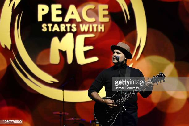Israel Houghton performs on stage during Peace Starts With Me concert at Nassau Coliseum on November 12 2018 in Uniondale New York