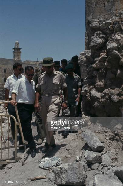 Israel in July 1967 Moshe Dayan was Zahala home in the suburbs of Tel Aviv Jerusalem the walls of Jericho PM 953