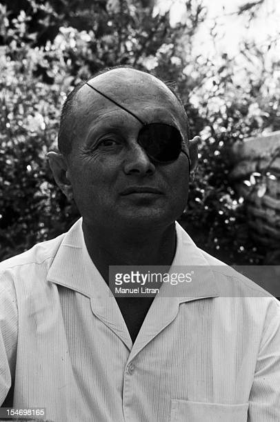 Israel in July 1967 Portrait of Moshe Dayan has Zahala home in the suburbs of Tel Aviv