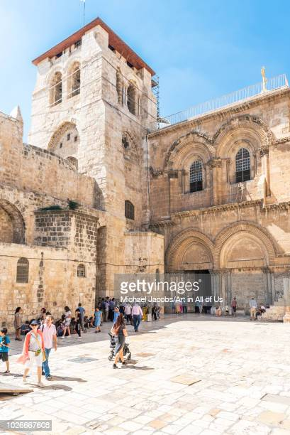 Israel, Jerusalem - 16 August 2018: Entrance of the Church of the holy sepulchre