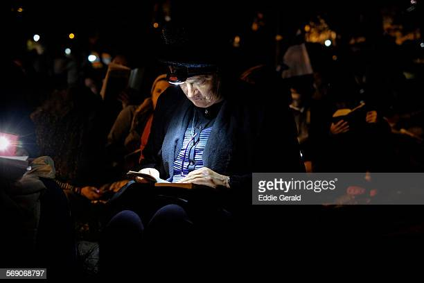 Israel Jerusalem 25th July 2015 Israeli West Bank settlers reading the Book of Lamentations in the Hebrew Bible during eve of Tisha B'Av which...