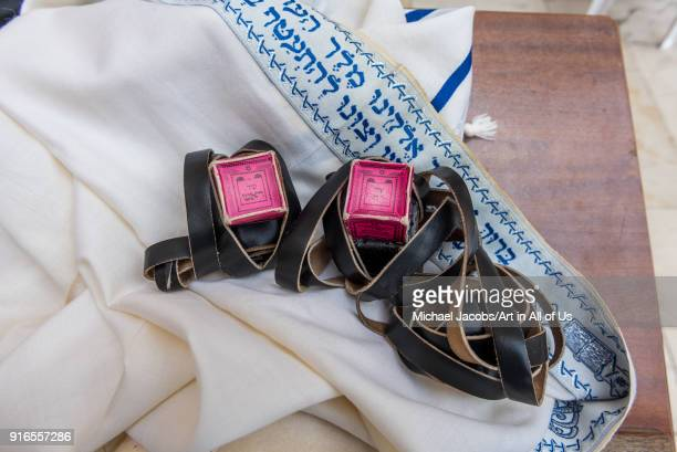 Tefillin and tallit at the Western wall kotel