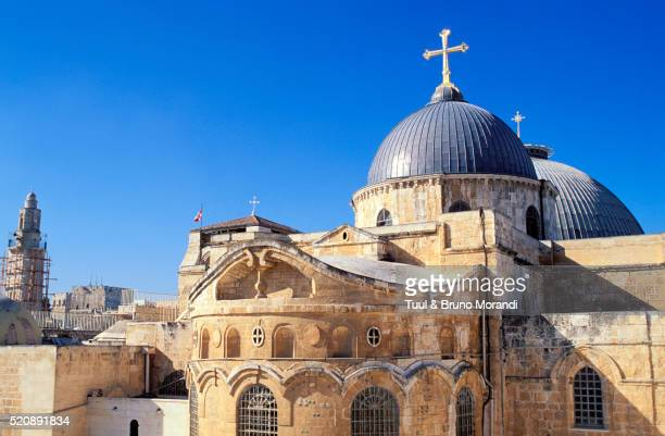 israel, jerusalem, church of the holy sepulcher in the old city of jerusalem - igreja do santo sepulcro imagens e fotografias de stock