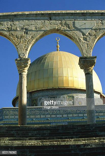 israel, jerusalem, cupola of the dome of the rock - hugh sitton stockfoto's en -beelden