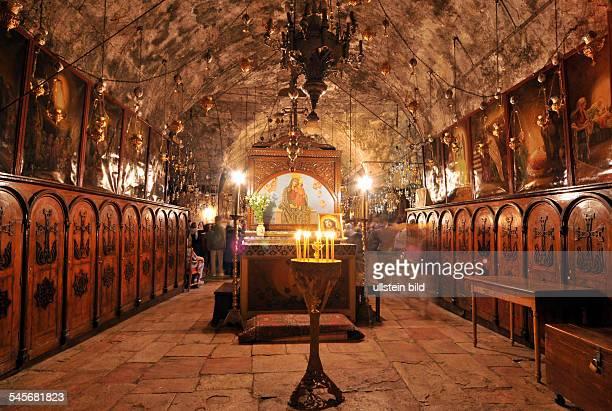 Israel Jerusalem Jerusalem Interior of Mary's Tomb at the Mount of Olives