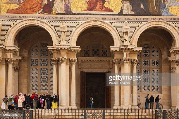 israel, jerusalem, mount of olives - garden of gethsemane stock pictures, royalty-free photos & images