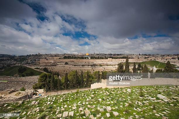 israel, jerusalem, mount of olives - mount of olives stock pictures, royalty-free photos & images