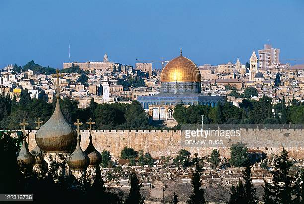 Israel Jerusalem old town Temple Mount Dome of Rock or Mosque of Omar