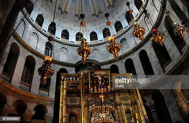 Israel Jerusalem The Tomb of Christ at The Holy Sepulchre Aedicula Old city
