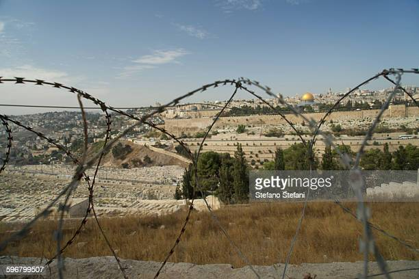 Israel, Jerusalem, view from the Mount of Olives