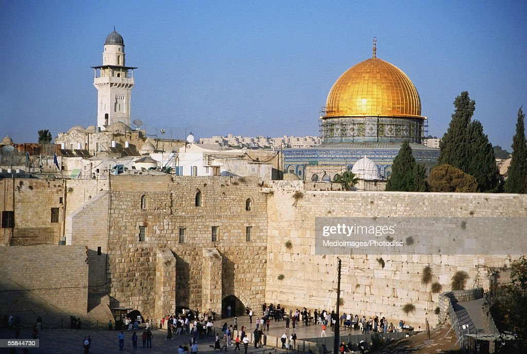 Israel, Jerusalem, Western Wall and The Dome of The Rock : Stock Photo