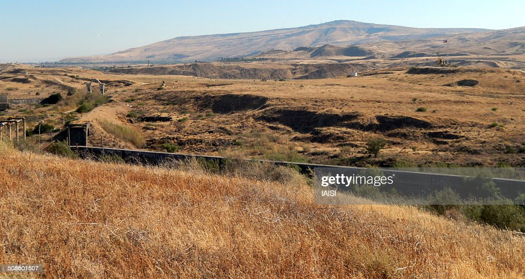 Israel - Jordan border : Stock Photo