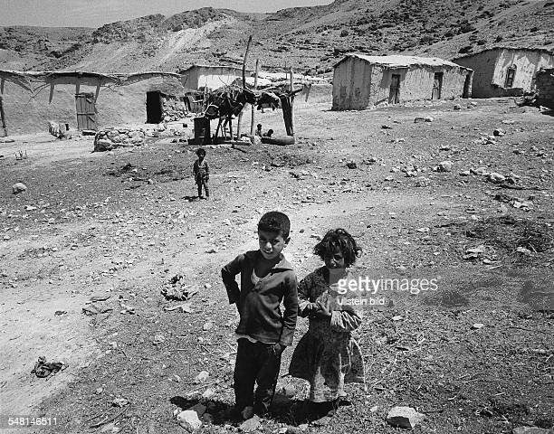 children from a village at the ceasefire line on the Jordan river 1973 Photographer Rudolf Dietrich Vintage property of ullstein bild