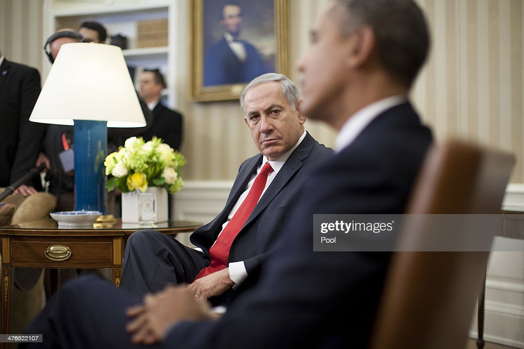 President Obama Meets With Israeli Prime Minister Netanyahu At The White House : News Photo