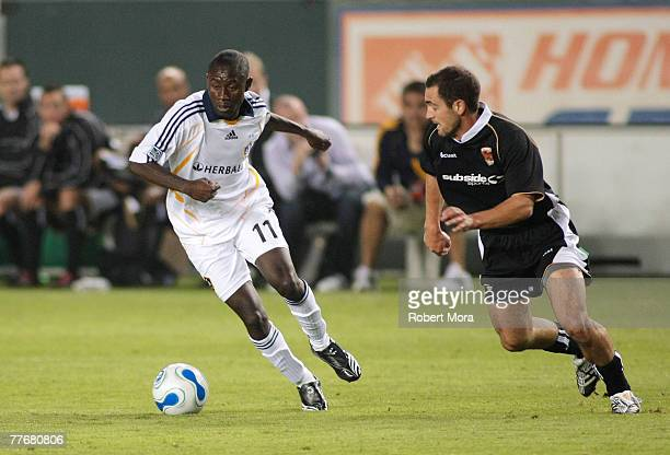 Israel Sesay of the Los Angeles Galaxy during the celebrity soccer match against Hollywood United FC at Home Depot Center on November 4 2007 in...