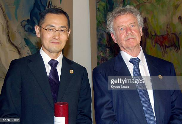 JERUSALEM Israel Shinya Yamanaka a professor at Kyoto University known for developing the multipurpose iPS cell and Rudolf Jaenisch a German...