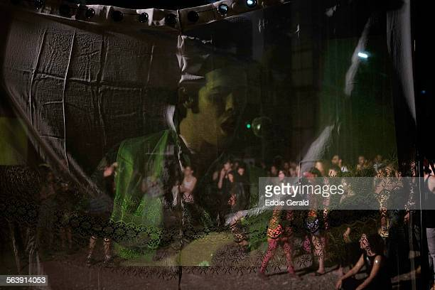 Israel Tel Aviv 25th June 2015 People watching Live Music Show in the street during the annual White Night event in tribute to the city being a...