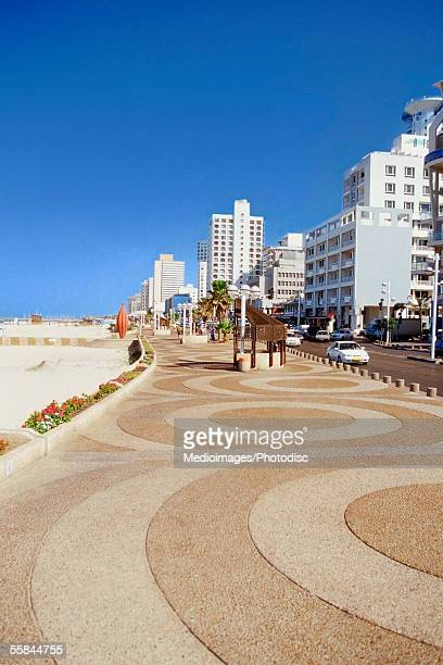 israel, tel aviv, pedestrians walkway along the waterfront - tel aviv stock photos and pictures