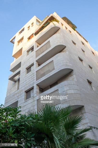 israel, tel aviv, white city, rothschild boulevard, bauhaus style, acum haus - tel aviv stock pictures, royalty-free photos & images