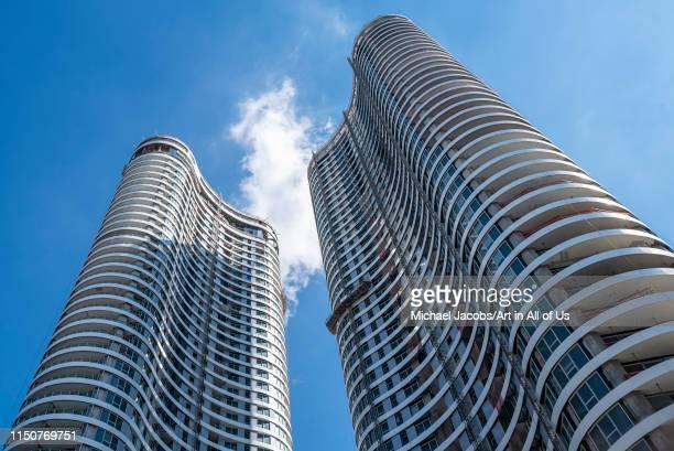 Israel, Tel Aviv-Yafo - 08 March 2019: Gindi TLV towers in construction designed by Moore Yaski Sivan Architects, Tel Aviv, Israel