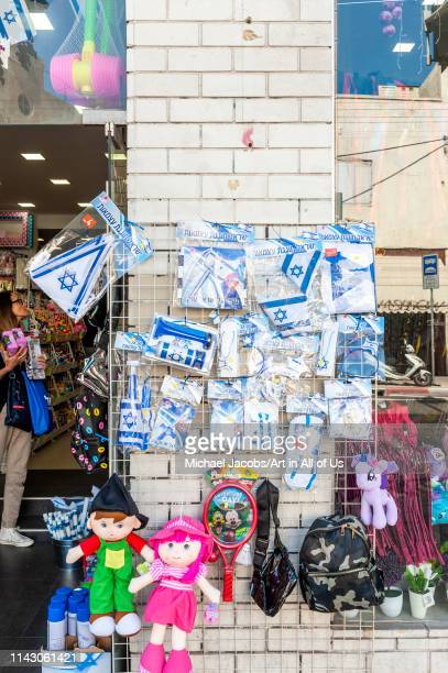 Israeli flags and gadgets sold for Israeli independence day yom haatzmaut