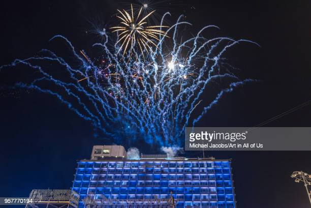 Celebration of the 70th independence day of Israel on Kikar Rabin square in front of the city hall