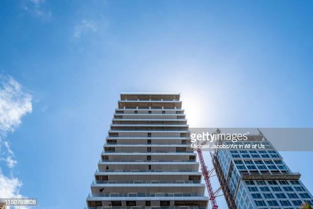 Israel, Tel Aviv-Yafo - 22 April 2019: Residential building in construction