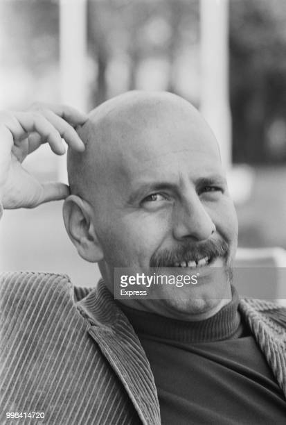 Israeli actor singer comedian voice artist film producer author and illustrator Chaim Topol with his head shaven for a part in a new play UK 8th May...