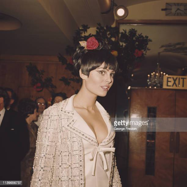 Israeli actress Daliah Lavi at the Royal Film Performance of 'Lord Jim' in which she stars London 15th February 1965