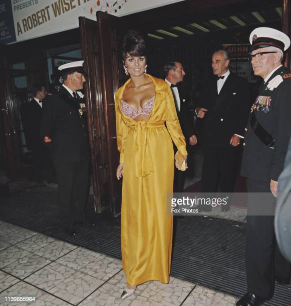 Israeli actress Daliah Lavi attends the premiere of the Robert Wise film 'Star' at the Dominion Theatre in London 18th July 1968