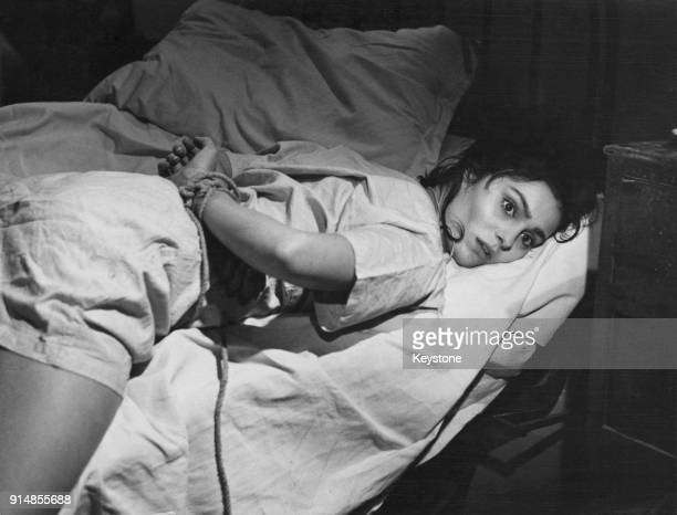 Israeli actress Daliah Lavi in a scene from the film 'Il Demonio' in which she plays a young woman suspected of demonic possession 9th August 1963