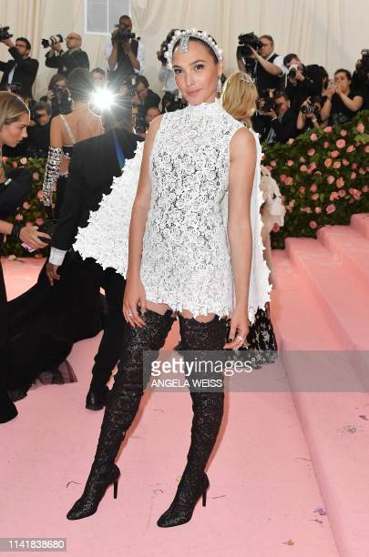 Israeli actress Gal Gadot arrives for the 2019 Met Gala at the Metropolitan Museum of Art on May 6 in New York The Gala raises money for the...