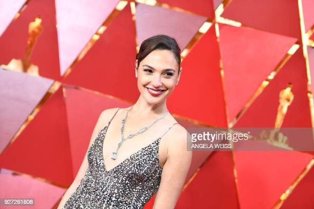 Israeli actress Gal Gadot arrives for the 90th Annual Academy Awards on March 4 in Hollywood California / AFP PHOTO / ANGELA WEISS