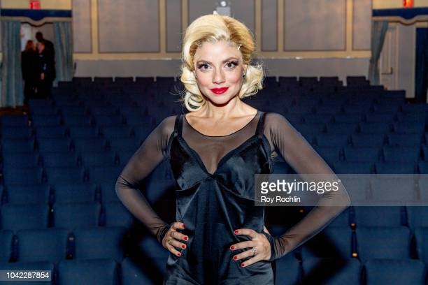 Israeli actress Shiri Maimon with actress Beth Johnson Nicely as she makes her Broadway debut in 'Chicago' at Ambassador Theatre on September 21 2018...