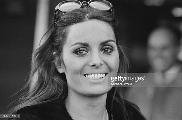 Israeli actress singer and model Daliah Lavi arrives at London Airport UK 15th November 1967