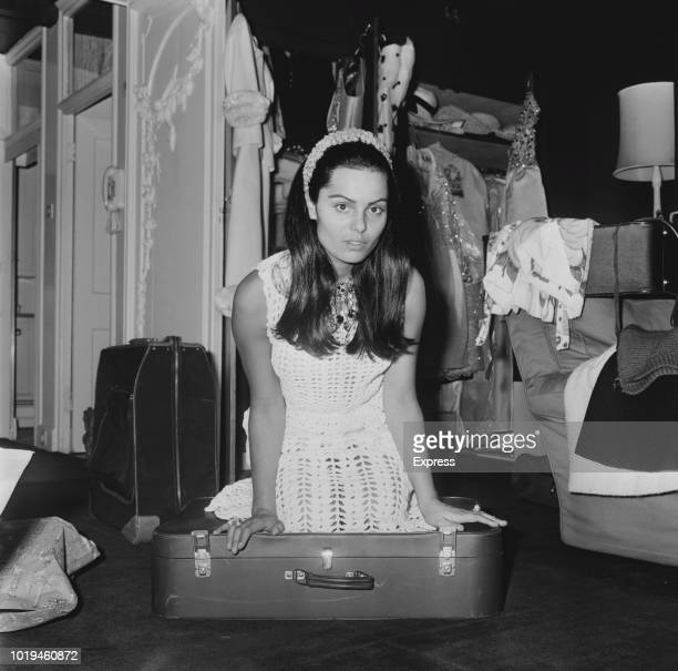 Israeli actress singer and model Daliah Lavi packing her case UK 5th July 1965