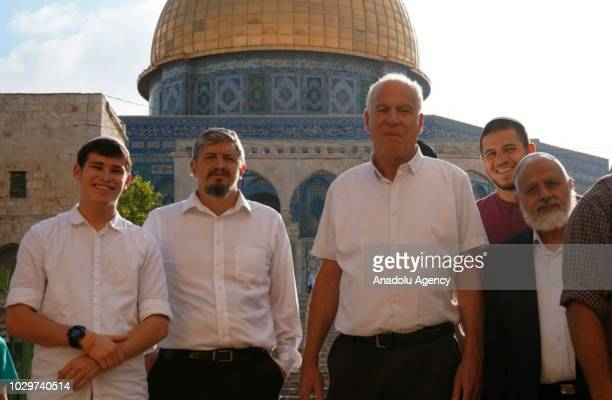 Israeli Agriculture Minister Uri Ariel and dozens of Israeli settlers storm AlAqsa compound on September 9 2018 More than 150 Jewish settlers stormed...