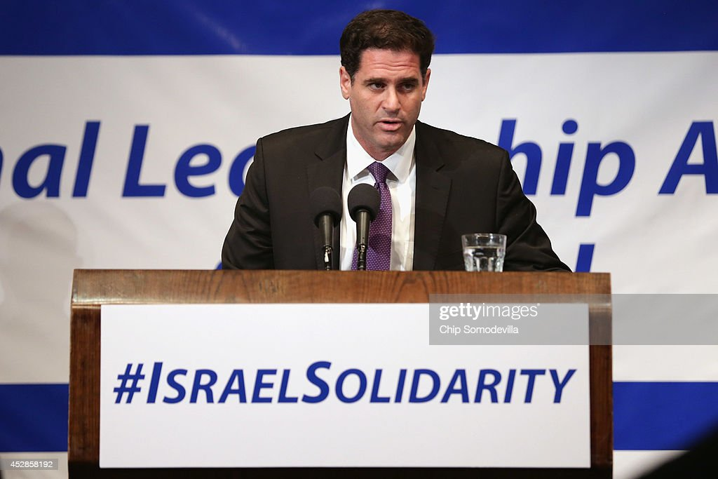 Israeli Ambassador to the United States Ron Dermer addresses Jewish organizational and community leaders during the 'National Leadership Assembly for Israel' at the National Press Club July 28, 2014 in Washington, DC. Organized by the Conference of Presidents of Major American Jewish Organizations, the event was addressed by Obama Administration officials and both Republican and Democratic members of Congress who attended the rally as a 'show of solidarity with the people and state of Israel.' Despite international calls for a ceasefire, Israel and Hamas continue to battle in and around the Gaza Strip, where 1,000 people have been killed since the violence started 21 days ago.