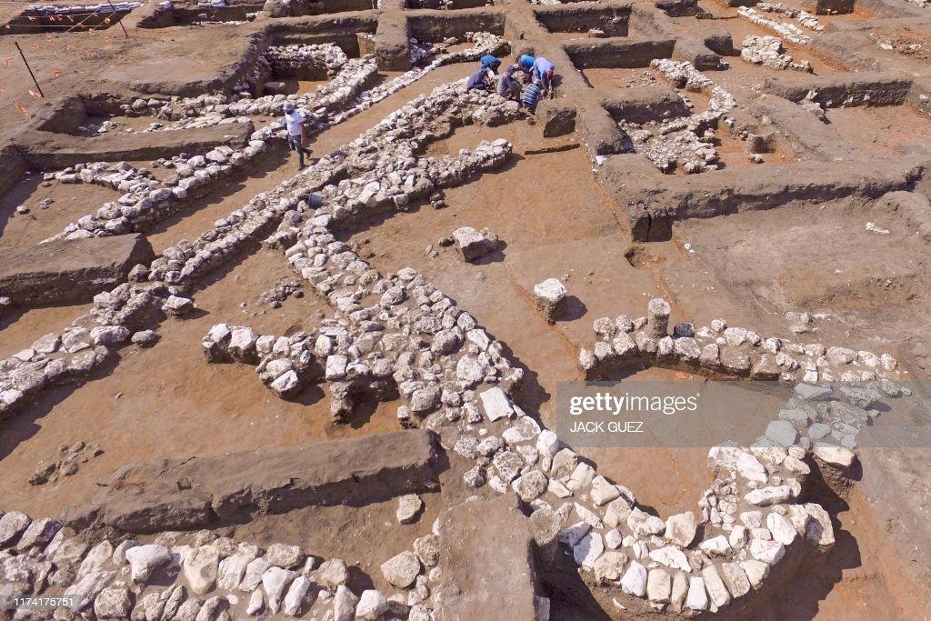 TOPSHOT-ISRAEL-HISTORY-ARCHAEOLOGY : News Photo