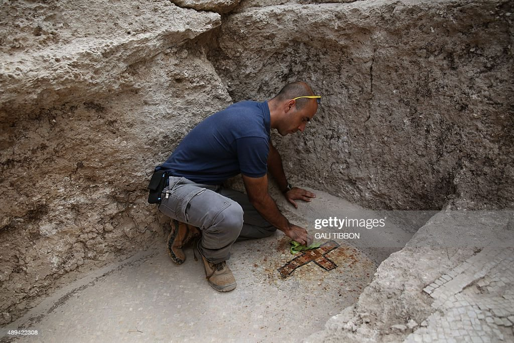ISRAEL-ARCHEOLOGY-MACABEES-TOMB : News Photo