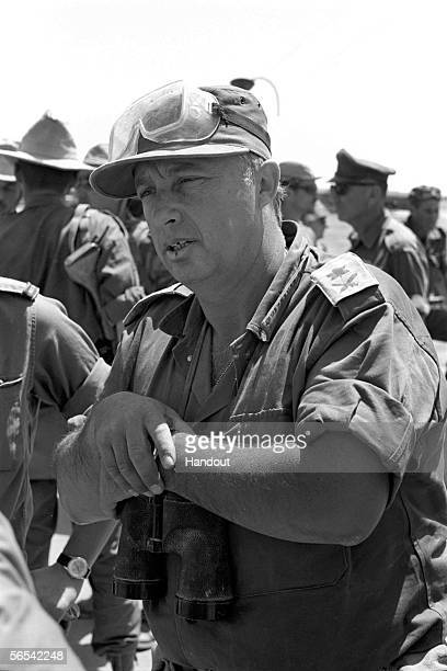 Israeli army General Ariel Sharon during the Six Day War in June 1967 in the Sinai Desert in Egypt