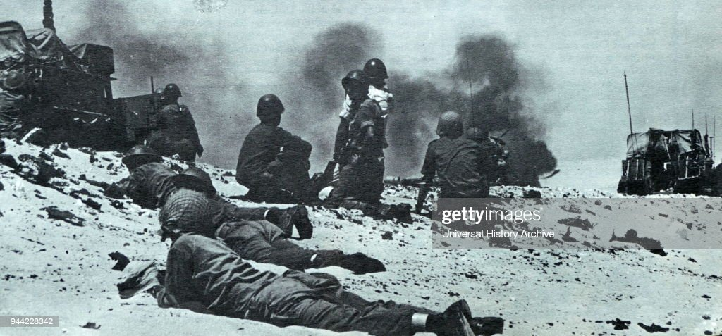 Israeli army in action in the Sinai Peninsula during the Six Day War